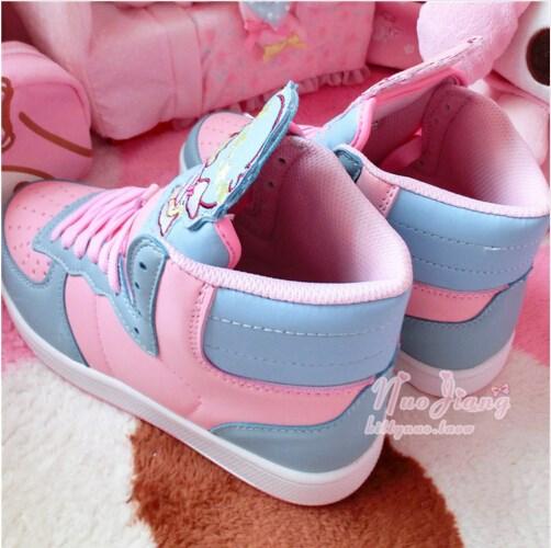 Anime Harajuku Cute Lolita Women's Little Twin Star High Top Shoes Casual