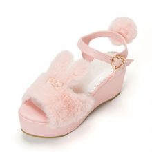 Japan's New Lolita Sweet rabbit Summer Sandals womens Shoes High-heeled Muffin Bottom Thick Lolita shoes Platform Sandals