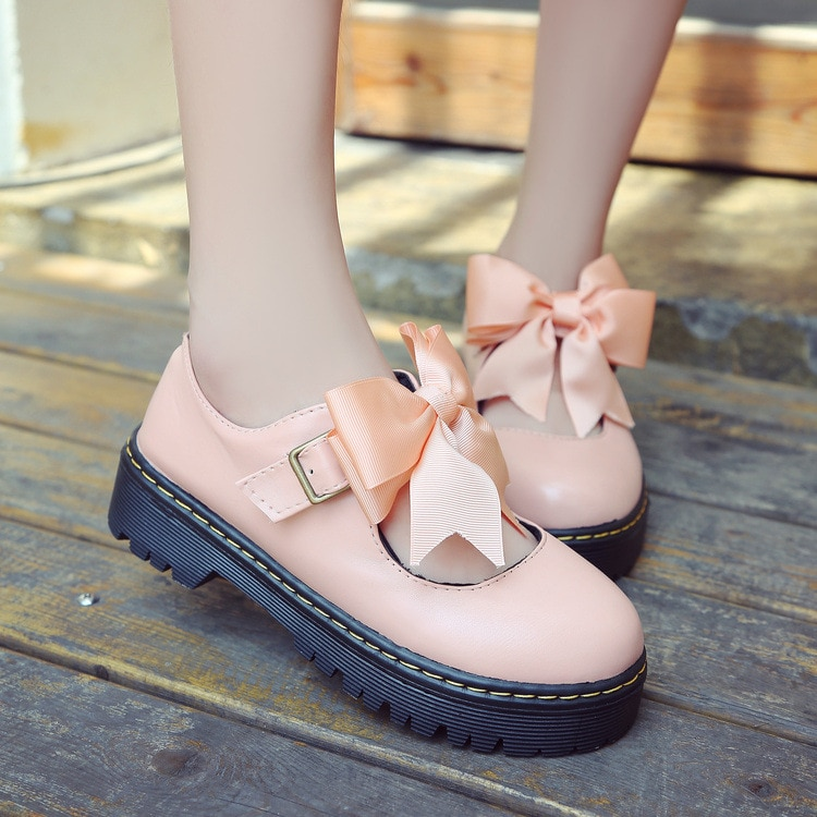Japanese School Shoes Student Uniform Suits Shoes Girl Lolita Shoes Cosplay Shoes