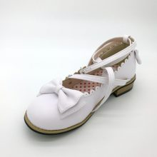 Dropshipping Lolita Shoes Women Flats Low Round with Cross Straps Bow Cute Girls Princess Tea Party Shoes Students Lovely Shoes