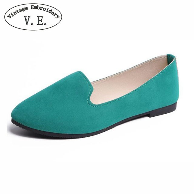Plus Size Shoes Women Flats Candy Color Woman Loafers Spring Autumn Flat Shoes Women Zapatos Mujer Summer Shoes Size35-43