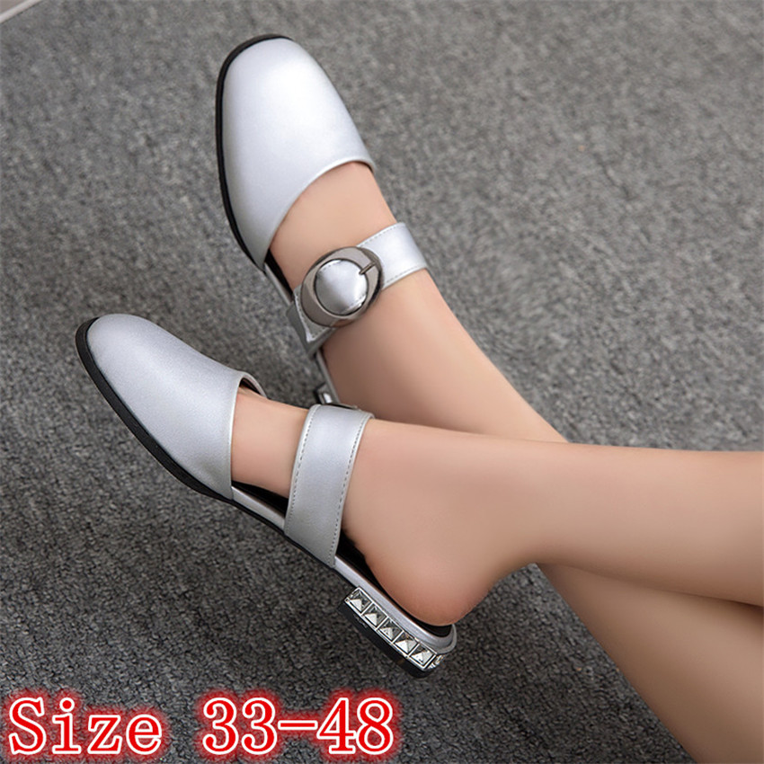 Summer Style Women Flats Sandals Woman Flat Shoes Loafers Slip-On Shoes Sandals Plus Size 33 - 40 41 42 43 44 45 46 47 48