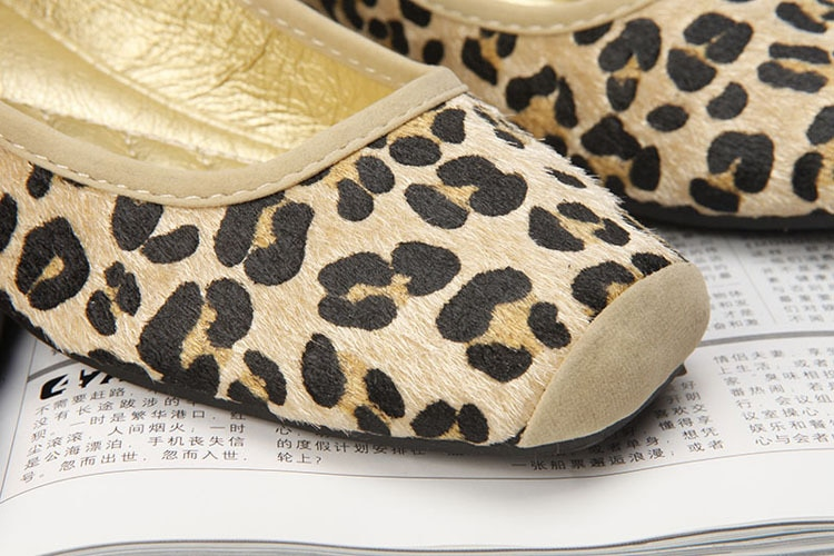 Women Flat Shoes Square Knot Soft Sole Leopard Print Brown Yellow Comfortable Fashion Ballerina 2018 Summer Autumn Sexy Flats