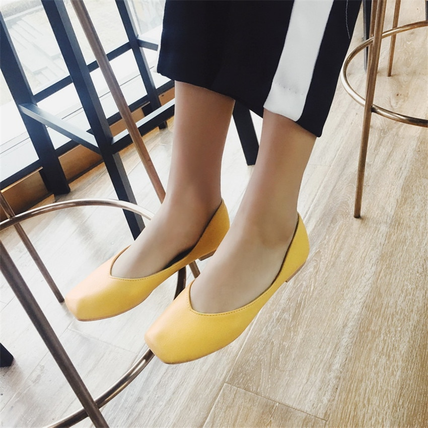 Shoes Woman Slip On Shoes Loafers Girl Ballet Flats Women Flat Shoes Soft Comfortable Plus Size 33 - 40 41 42 43 44 45 46 47 48
