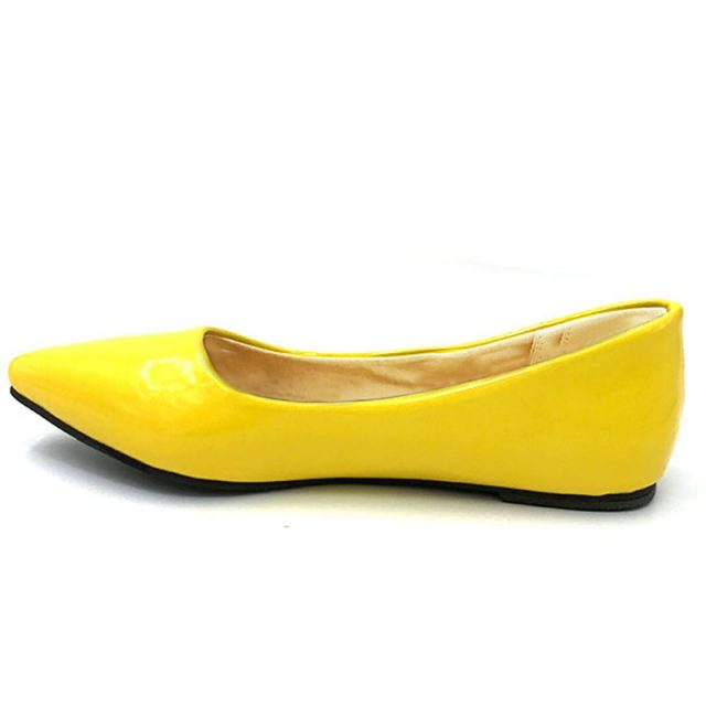 TAOFFEN women flat casual candy color shoes lady sexy dress pointed toe footwear fashion  P11816 hot sale EUR size 32-43