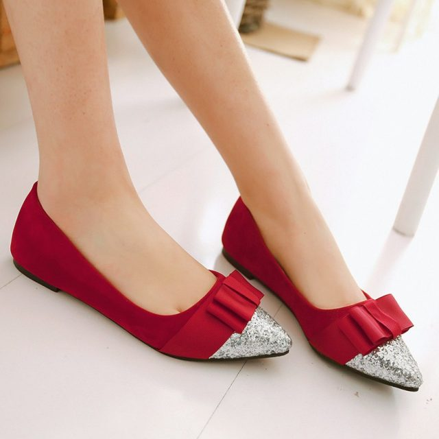 Shoes Woman Slip On Shoes Loafers Girl Ballet Flats Women Flat Shoes Soft Comfortable Plus Size 34 - 40 41 42 43 44 45 46 47 48