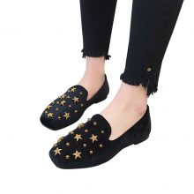 2018 Flat Shoes Women Spring Autumn Slip-on Fashion Rivet Female Shoes Sexy Party Suede Lazy Woman One Single Ladies Flats