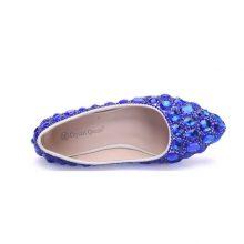 Crystal Queen Rhinestone Crystle Cinderella Shoes Sexy Flat heel Women Shoes Wedding Shoes Flats big size 34-42 Multicolor
