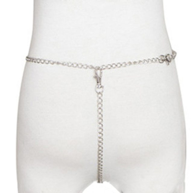 Women Metal Chain Erotic Panties Fetish Sexy Costumes Porno Lingerie Fantasia Crotchless Panties Temptation Sex Underwear