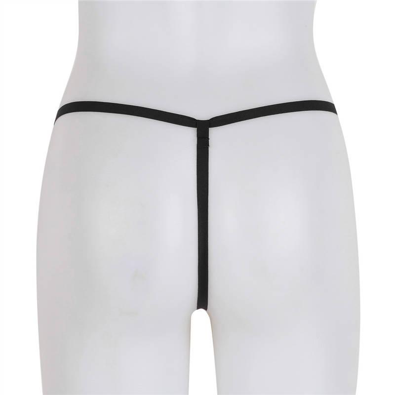 YiZYiF Women G-string Crotch Open Thongs Sexy Panties Lingerie Erotic Thongs Pearls Massage Bikini fetish crotchless Underwear