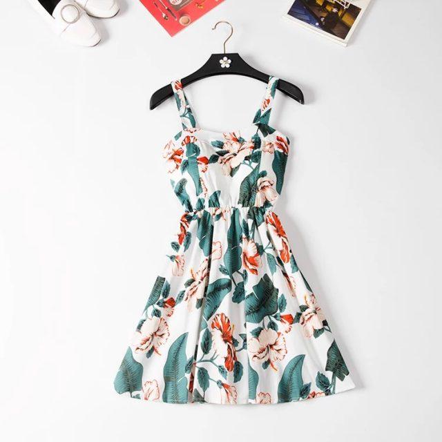 Marwin 2019 New Off shoulder ruffle Dot summer Dress women white strap chiffon beach Boho party sexy dresses vestido furits
