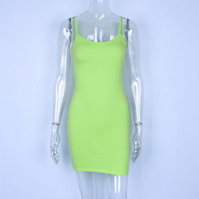 Hugcitar cotton spaghetti straps slash neck high waist sexy dresses 2018 autumn winter women fashion solid club dress