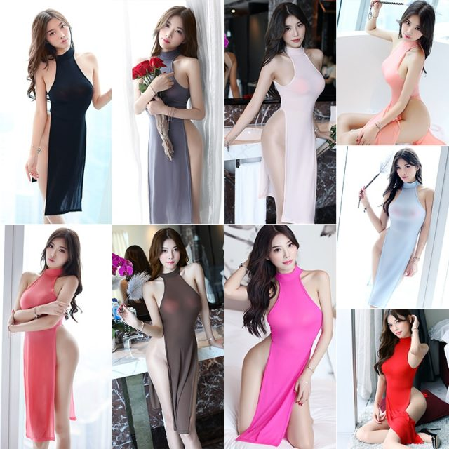 SAROOSY New Arrival High Cut Sexy Halter Tank Dress for Women Summer Vestidos Beach Soft Comfortble Candy Color with Metal Ring