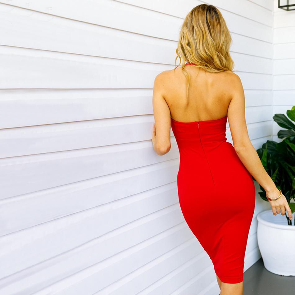 Adyce Summer Bandage Dress Women Vestidos 2019 New Sexy Bodycon Celebrity Evening Party Dresses Elegant Halter Midi Club Dress
