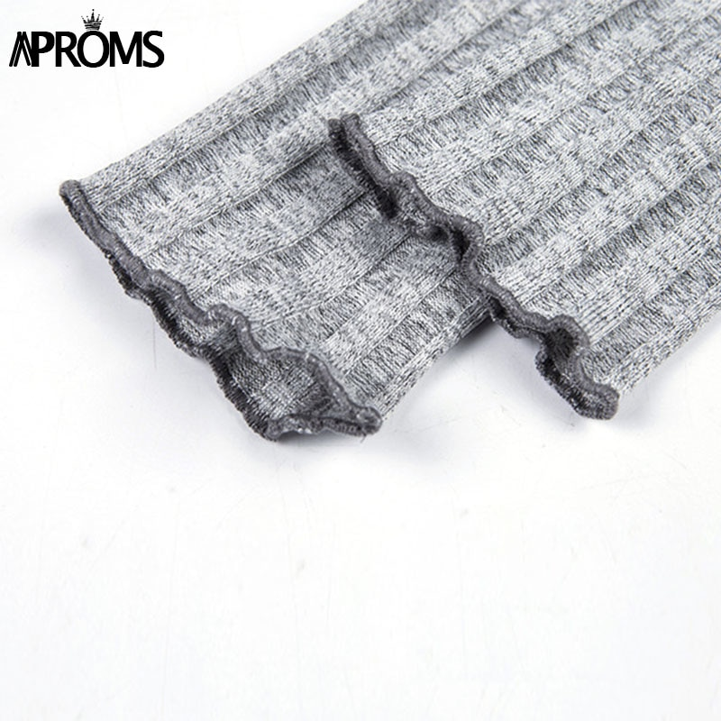 Aproms Buttons Knitted Off Shoulder Tunic Dress Winter Sweater Dresses Women Sexy Long Sleeve Bodycon Club Short Dress Vestidos