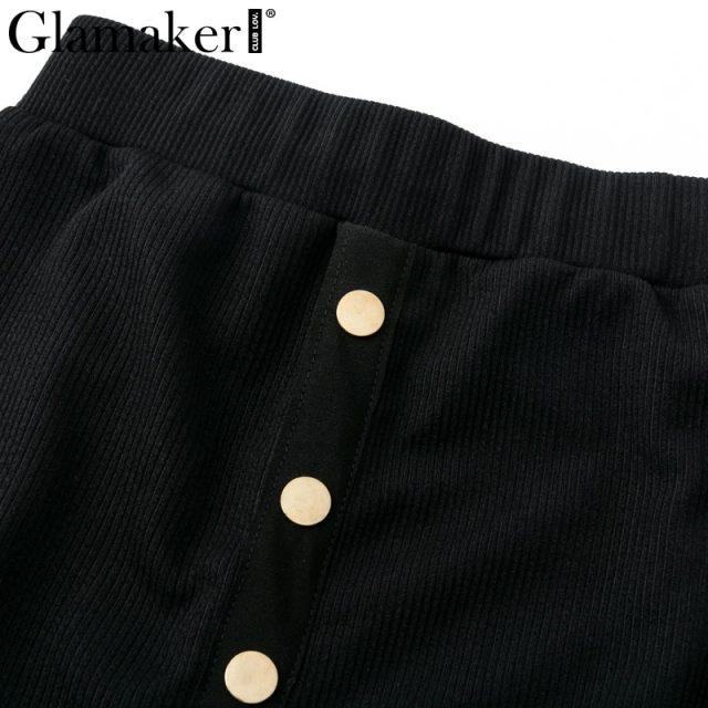 Glamaker Off shoulder split sexy bodycon dress Women two piece black summer beach dress Elegant vintage long party dress casual