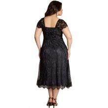 Romacci Women 3XL 4XL 5XL Plus Size Dress Sweetheart V Neck Cap Sleeve Floral Lace Dress Midi-calf Elegant Sexy Club Party Dress