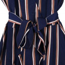BEFORW 2018 Women Sexy V Neck Lace Up Ruffles Striped Mini Dress Autumn Winter Long Sleeve Casual Dresses Female Vestidos