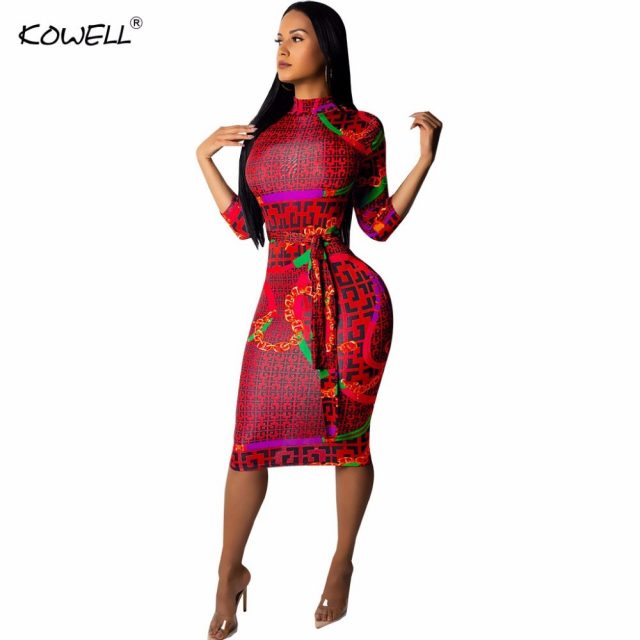 Fashionable Sexy Bodycon Bandage Women Dress Long Sleeve Autumn Winter Sexy dresses party night club dress 2019 Plaid Print