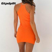 Gtpdpllt Summer Dress Women Solid Sexy Dress Sleeveless Bodycon Beach Dress Women Plus Size Dresses Party Vestidos