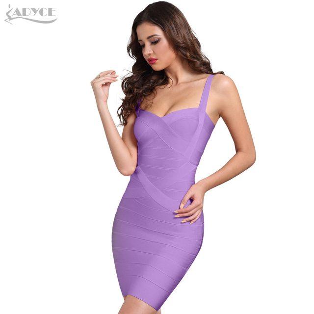 ADYCE Women Bodycon Bandage Dress Vestidos Verano 2019 New Yellow Black Pink White Blue Sexy Lady Dance Runway Club Party Dress