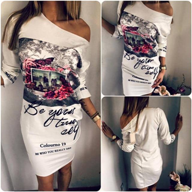 Slim Casual Cartoon Printed Dress Women Cute Camouflage Mini Package Hip Dress 2019 New Summer Short Sleeve Sexy Dress Vestidos