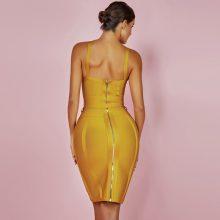 Ocstrade Women Bandage Dress 2019 Rayon Sleeveless Summer New Arrivals Sexy Deep v Neck Vestido Bodycon Bandage Dress Club Party