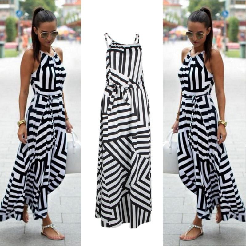 Women Sexy Summer Dress Boho Maxi Long Evening Party Dress Beach Dress Sundress