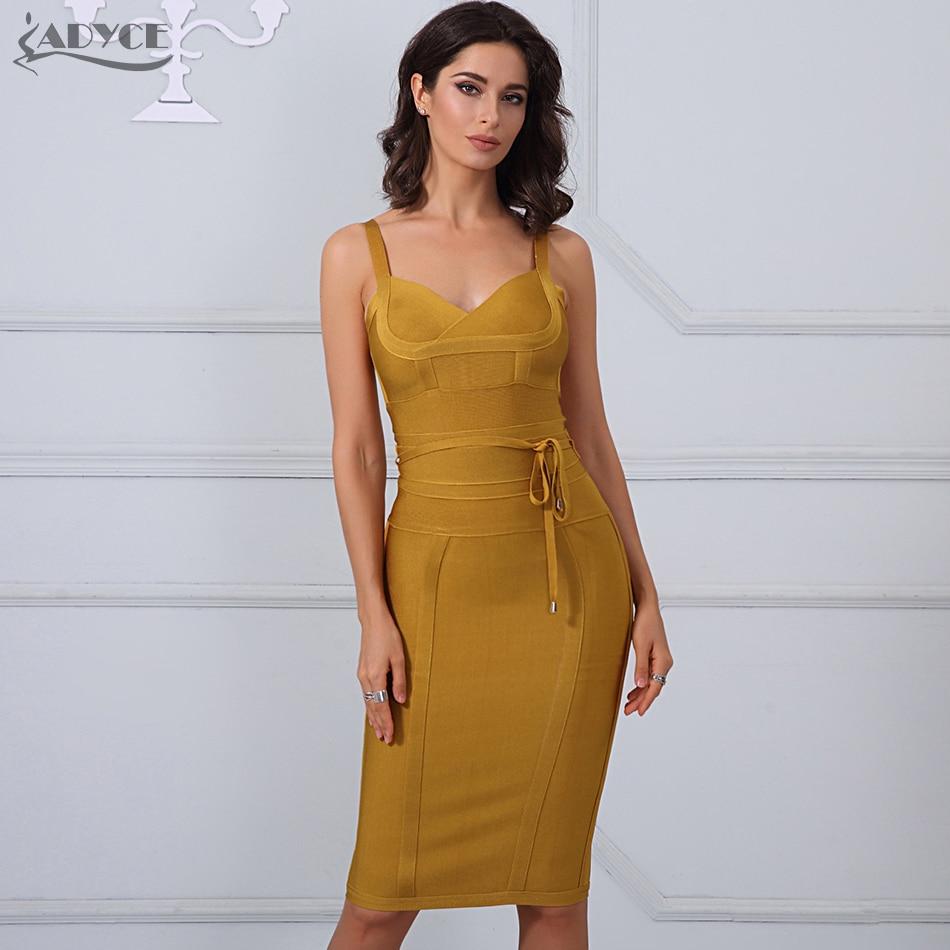 Adyce Clothing Women Summer Bandage Dress 2019 Sexy Celebrity Party Dress Nightclub Spaghetti Strap Bodycon Club Dress Vestidos