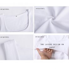 Oukytha 2018 Summer Sexy Low-cut Basic T-shirts Tank Top Solid Cotton Self-cultivati Sleeveless Camisole Tops Women's Vest 2090