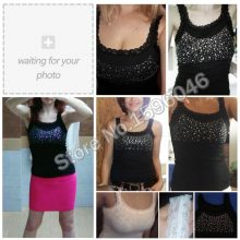 Girl Women's Rhinestone Sequin Lace Tank Top Sling Camisole Cami Vest Slim sleeveless vest casual Female Sexy Loose Solid 2019