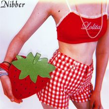 Nibberwomen Sexy lace Cotton tank tops Slim Soft camisole Red Fashion Embroidery Ruffles Tank Tops beach Leisure vacation Bikini