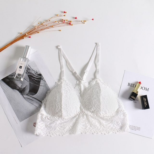 Wire Free Women Seamless Bra Lace Y Shape Strap Lingerie Brassiere Convertible Padded Bras Lingerie None Closure Sexy Bra Tanks