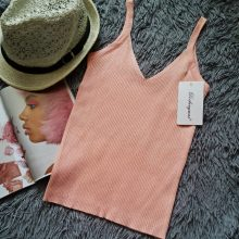 GOPLUS 2019 Spring Sexy Crop Top Knitted Tank top Women Blouse Soft V Neck Tops Female Sleeveless Vest Casual streetwear Camis