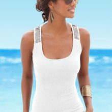 2018 Summer For Women T Shirt Sequin Sleeveless Loose Tank Top Bandage Casual Tops Camisole Tunic Black Red Sexy Female Tank Top