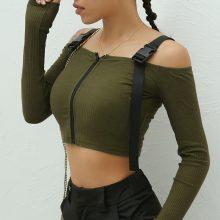 Tops & Tees T Shirt Women Long Sleeve Shirt Women T-shirt Crop Top 2019 Korean Fashion Style Shirt Feminina Black Sexy Short Top