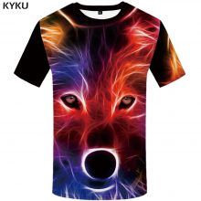 KYKU Brand Wolf T shirt Women Snow Clothing Jungle Tshirt Tops Clothes 3d T-shirt Womens Hip hop Sexy Top Tee Female