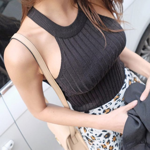 Sexy Cropped Crop Tops Women Clothes 2018 Summer Off Shoulder Tank Top Halter Knitted Cotton Womens Sleeveless Vetement Femme