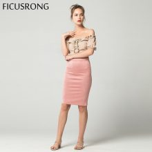 Women Skirts Suede Solid Pencil Skirt Female Autumn Winter High Waist Bodycon Vintage Split Thick Stretchy Skirts FICUSRONG