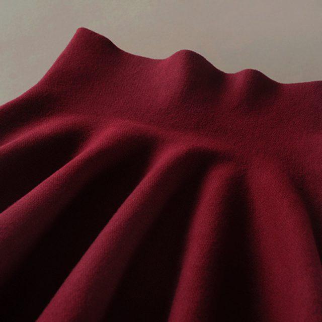 2018 new Women's Korean Version Pleated Skirt  Umbrella Skirt High Waist Bottom Knitted Skirt Autumn A-line Skirt
