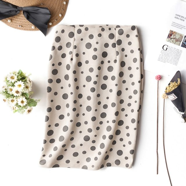 2019 summer retro leopard print office skirt high waist slim Korean version of the new elastic ladies casual sexy bag hip skirt