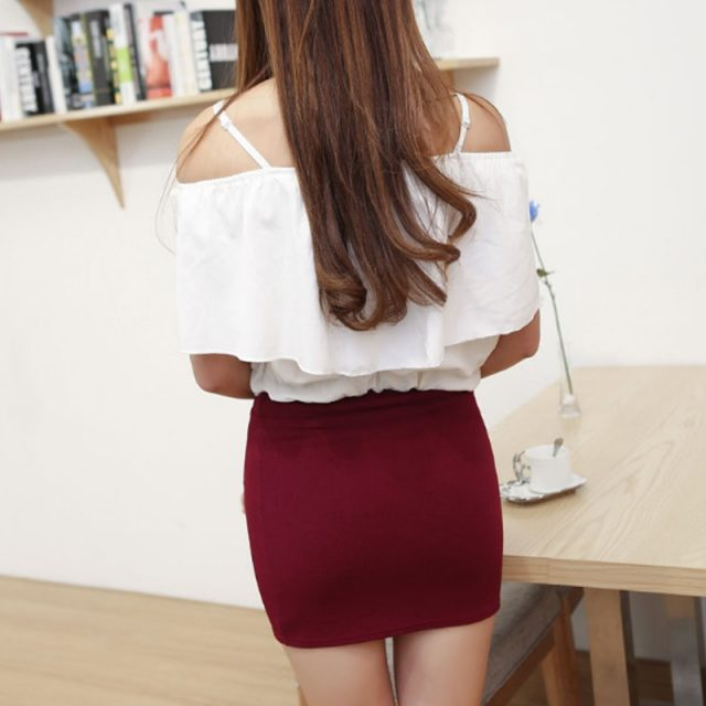New Micro Mini Skirts 2017 Summer Sexy Girls Skirts Casual Package Hip Short Skirts Women Tight Office Party Female Red Black 50