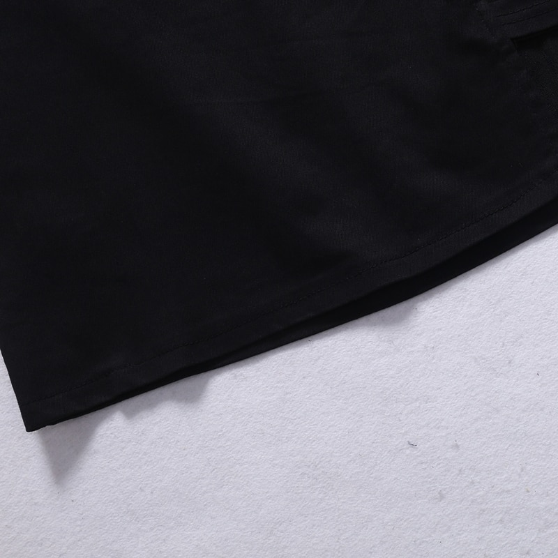 Korean Style Black Package Hip Saia Skirts Gap Irregular Hem Pencil Micro Mini Skirt