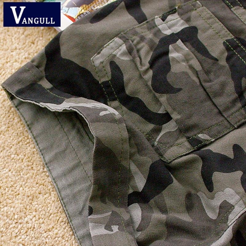 Vangull Camouflage shorts 2018 women Slim Fit Military Ladies girls zipper pocket Mini shorts overalls jeans Combat cargo shorts