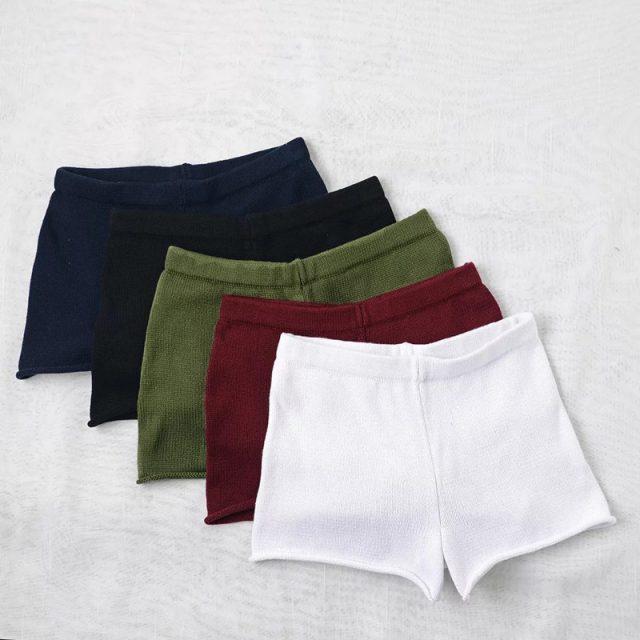 Simenual Summer knitted shorts women clothing swimwear fashion beachwear short with high waist solid slim sexy hot mini shorts