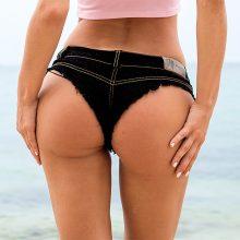 TASTIEN 2019 Women Sexy Shorts New Fashion Denim Jeans Shorts Low Waist Stretch Mini Super Summer Booty Shorts Clubwear 5 Colors