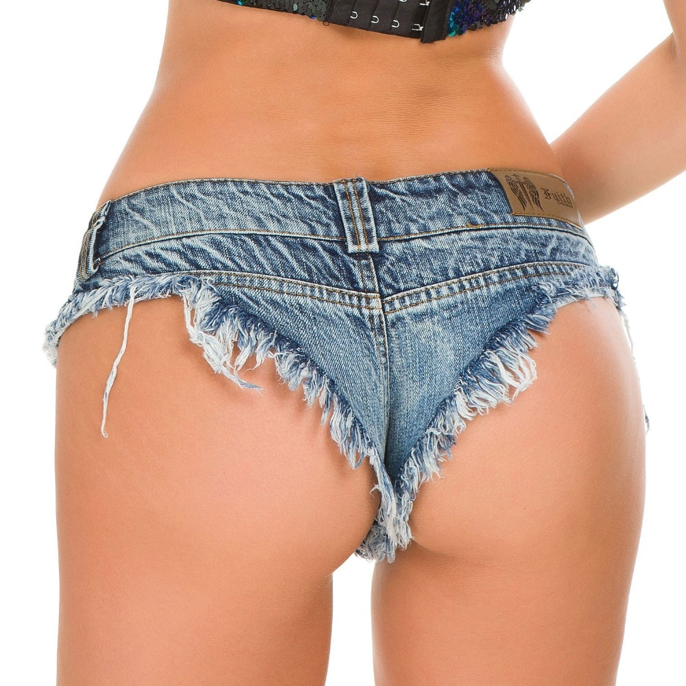 2018 Women Sexy Shorts Denim Jeans Shorts Low Waist Stretch Mini Super Summer Booty Shorts feminino Pole Dance Clubwear 5 Colors