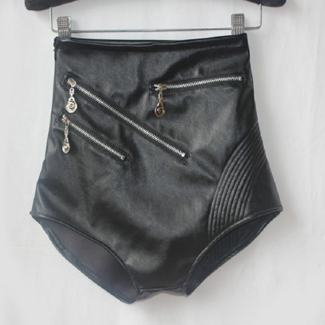 Faux Leather Shorts Women High Waist Sexy Black Shorts Women Fashion Nightclub Mini Shorts Stage Performance Costume for Girls