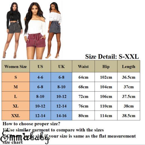 US Womens Shorts Summer Sexy Hot Pants Casual Beach High Waist Mini Short Pants