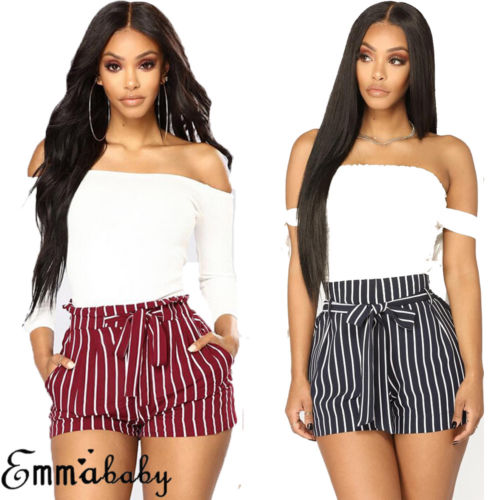 US Womens Shorts Summer Sexy Hot Pants Casual Beach High Waist Mini Short Pants